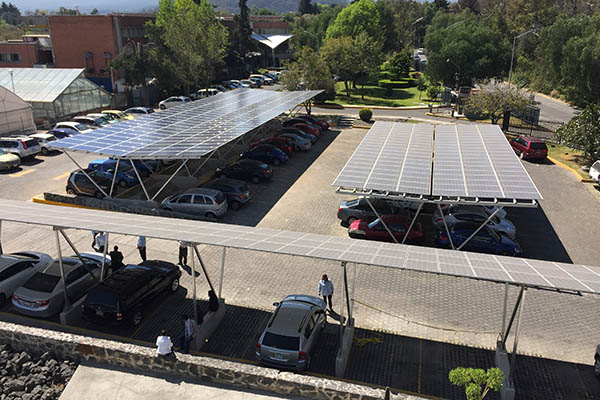 Sistema fotovoltaico Instituto de Ecología UNAM