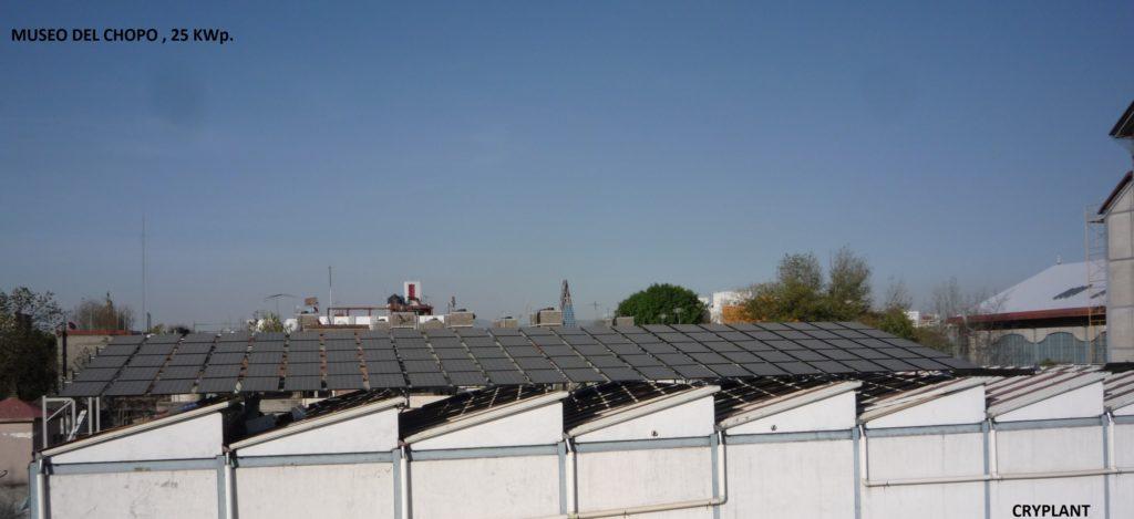 Paneles solares en el museo Del Chopo, CDMX